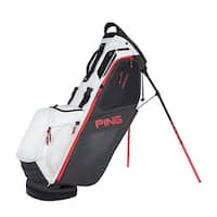 New Ping 2018 Hoofer 14 Golf Stand Bag (Graphite / White / Crimson) - graphite / white / crimson