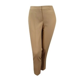 Nine West Women's Paris 'The Skinny' Crepe Trousers - latte