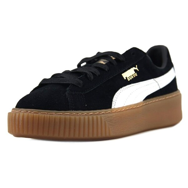 Shop Puma Suede Platform Core Women Round Toe Suede Black Sneakers ... 3a82114a2