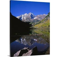 Premium Thick-Wrap Canvas entitled Colorado, Maroon Bells, Snowmass, Wilderness