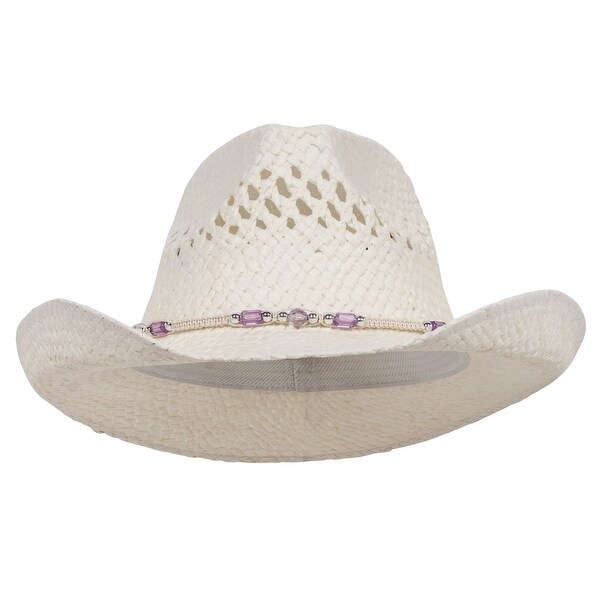 640d7bcb1c121 Shop MG Womens Straw Outback Toyo Cowboy Hat - Natural - Free ...
