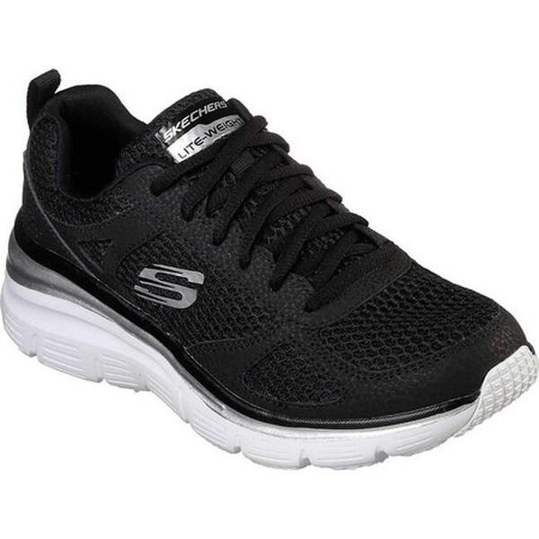 Skechers Women's Fashion Fit Perfect Mate Sneaker BlackWhite