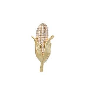 "JADA Collections Gold Tone Farmers Corn Ear ""Harvest"" Theme Brooch Pin"