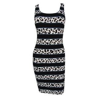 Bar III Women's Sleeveless Striped Dress - s