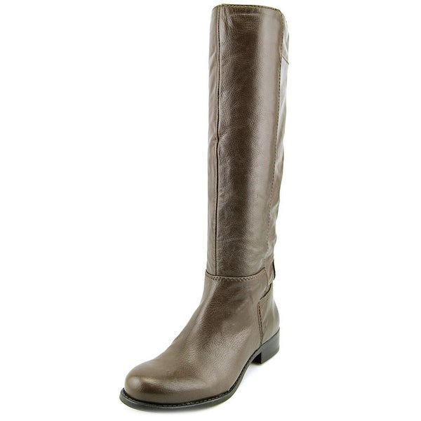Nine West Lirao   Round Toe Leather  Knee High Boot
