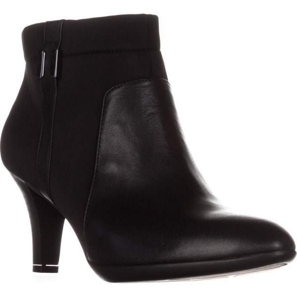A35 Venah Side Zip Booties, Black