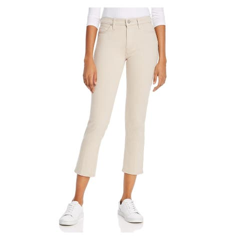HUDSON Womens Beige Solid Capri Jeans Size 26