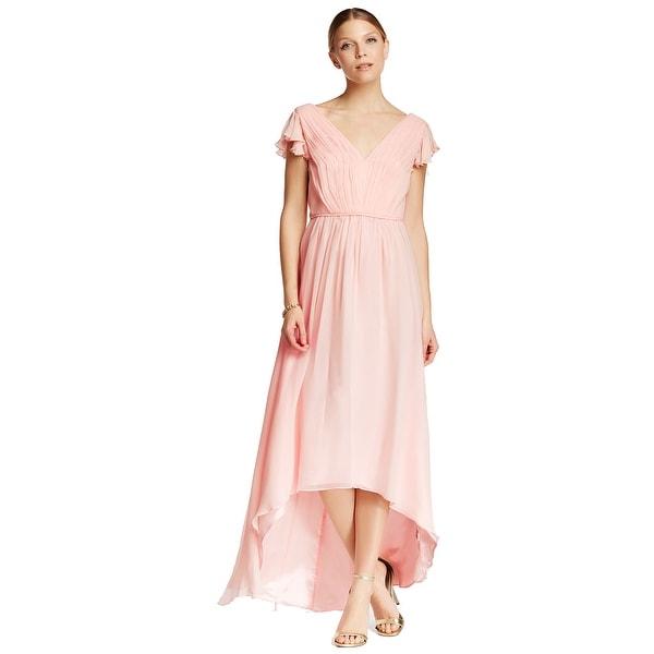 Shop Jill Stuart Hi-Lo Chiffon Gown Powder Pink 14