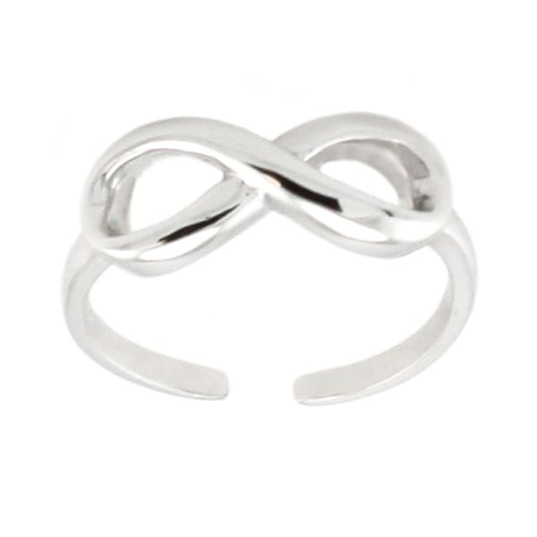 Sterling Silver Infinity Adjustable Size Toe Ring