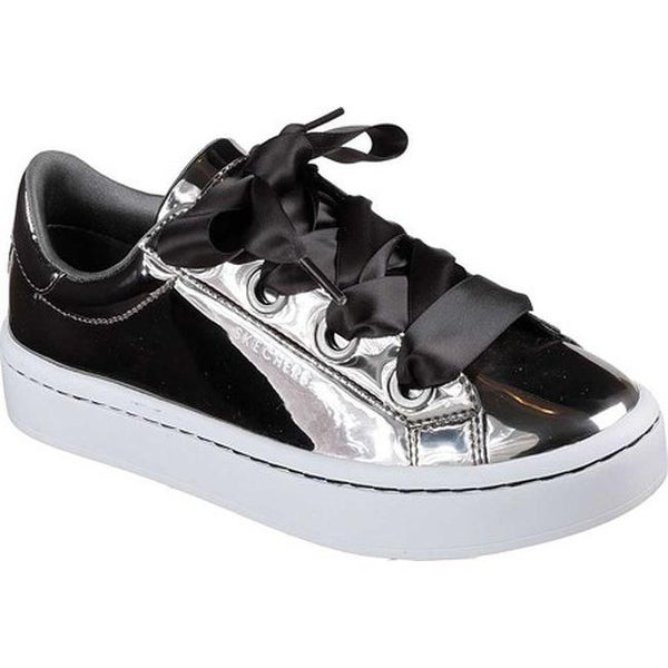 Skechers Hi Lite Liquid Bling (Silver) Trainers Womens