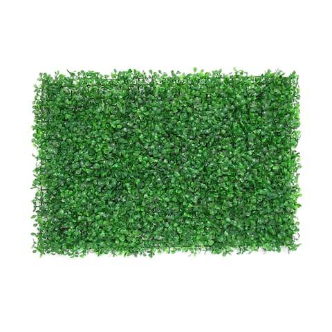 "Set of 8 Boxwood Greenery Wall Panel Hedge Mat Backdrop Privacy Screen - 24"" L x 16"" W x 1"" DP"