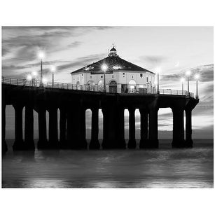 ''Manhattan Beach Pier II'' by Anon Coastal Art Print (14 x 18.25 in.)