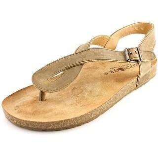 Haflinger Lena Open-Toe Leather Slingback Sandal