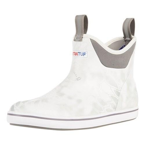 "Xtratuf Men's 6"" White Kryptek Ankle Deck Boots w/ Chevron Outsole - Size 13"