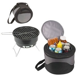 "2-in-1 Cooler Tote & 10"" Charcoal BBQ"