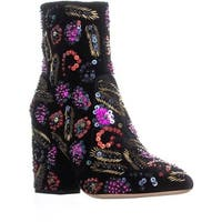Loeffler Randall Isla Pointed Toe Ankle Boots, Black Multi
