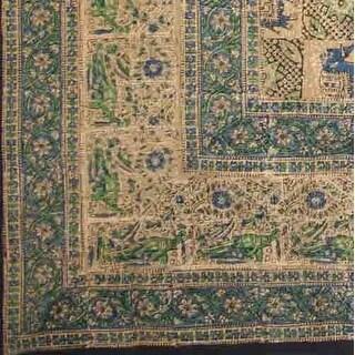 Handmade Elephant Block Print Batik Tablecloth Spread 100% Cotton Twin Full 72x108