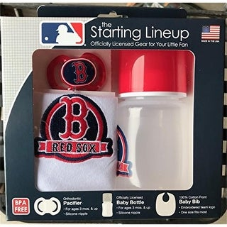 Baby Fanatic 1740702459 Boston Red Sox Baby Gift Set, Pack of 3