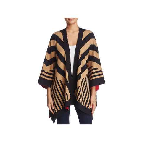 Avec Womens Cardigan Sweater Colorblock Striped