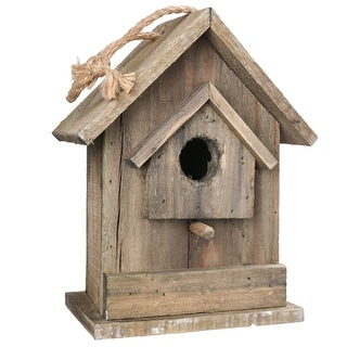 Link to Wooden Bird House with Small Back Door Entry, Brown Similar Items in Accent Pieces