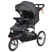 Baby-Joy Portable Folding Stroller Baby Jogger Kids Travel Pushchair Adjustable Handlebar - Black