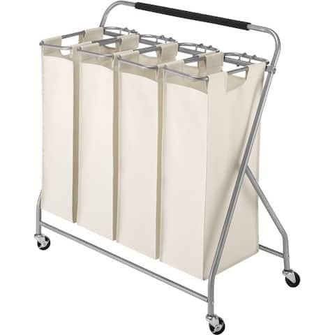 Whitmor 6640-4981 easy-lift quad laundry sorter