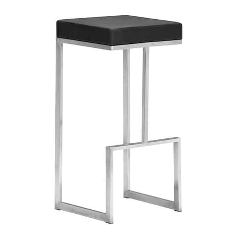 Darwen Black 30-inch High Seat Bar Chairs (Set of 2) - 14L x 14W x 30H