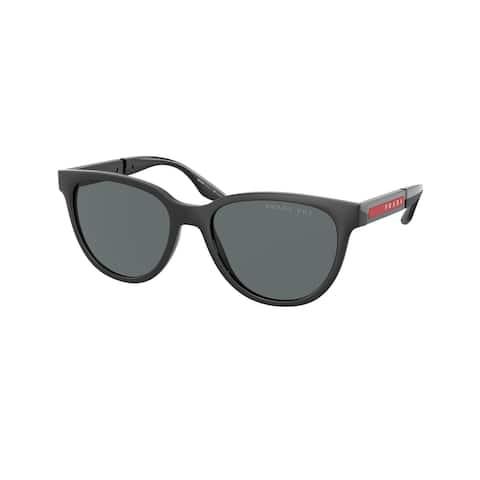 Prada Linea Rossa PS 05XS DG002G 54 Black Rubber/black Man Oval Sunglasses