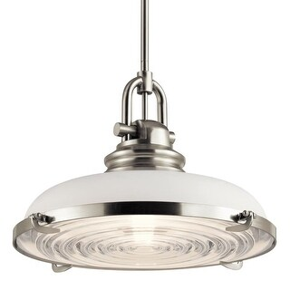 """Miseno MLIT152444 1 Light 18"""" Wide Pendant with White Glass Shade"""