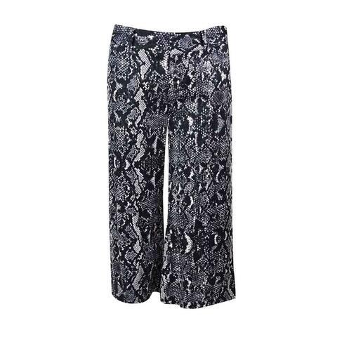 INC International Concepts Women's High Waist Gaucho Pants - Diamond Back Snake