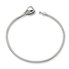 Sterling Silver Reflections 15cm Kids Hinged Clasp Bracelet (2mm) - 6""