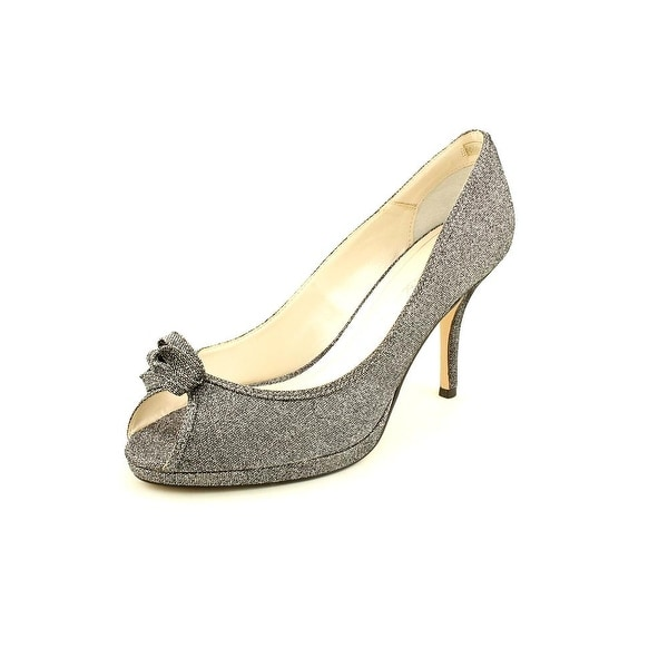 Caparros Impulse Women Open Toe Synthetic Silver Platform Heel