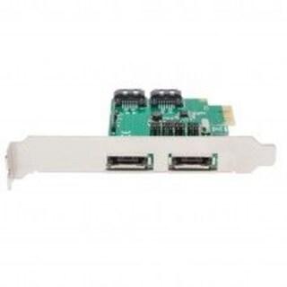 Syba PCIe x1 Interface Version 2.0/ 2-Port SATA6G RAID Card with Low Profile Bracket ASMedia 1061R Chipset