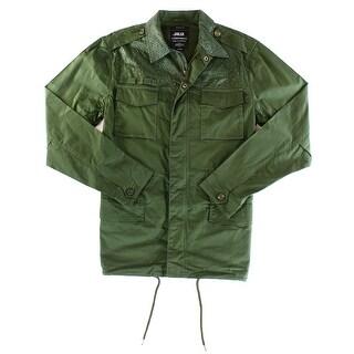 PUBLISH NEW Green Mens Size XL Full Zip Multi Pocket Textured Jacket