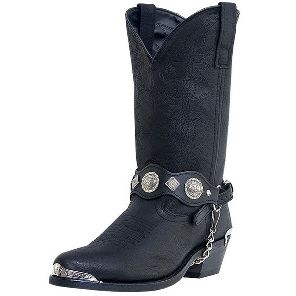 Dingo Western Boots Mens Suiter Harness Fashion Toe Black