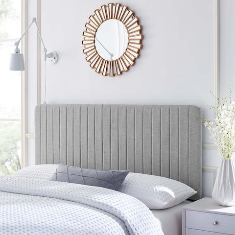Milenna Channel Tufted Upholstered Fabric King/California King Headboard