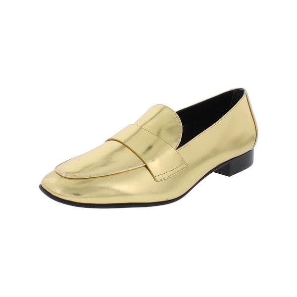 Diane Von Furstenberg Womens Lafayette Loafers Leather Square Toe