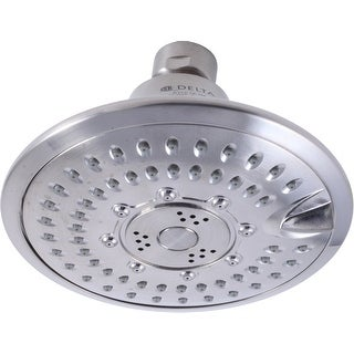 "Delta 52683  2.5 GPM Universal 5"" Wide Multi Function Shower Head with Touch-Clean Technology"