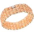 D'AMA Women's Pearl Bracelet - Easy-On Stretch Triple Strand cultured Pearl Bracelet - Thumbnail 1
