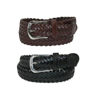 CTM® Boys' Leather Adjustable Braided Dress Belt (Pack of 2 Colors)|https://ak1.ostkcdn.com/images/products/is/images/direct/7da263cdd15ed697be6ba894944a3a2a7cadee62/CTM%C2%AE-Boys%27-Leather-Adjustable-Braided-Dress-Belt-%28Pack-of-2-Colors%29.jpg?impolicy=medium