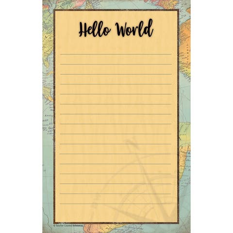 """Travel the Map Notepad, 5.25"""" x 8.5"""", 50 Sheets, Pack of 6 - One Size"""