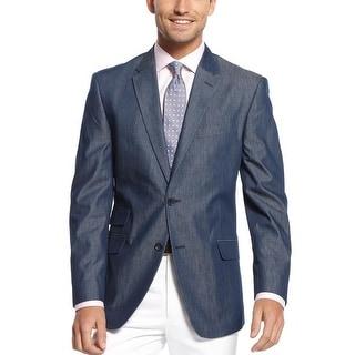 Tommy Hilfiger Dorsey Navy Cotton Twill Trim Fit Sportcoat 38 Short 38S Blazer