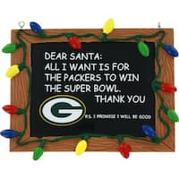Green Bay Packers Resin Chalkboard Ornament