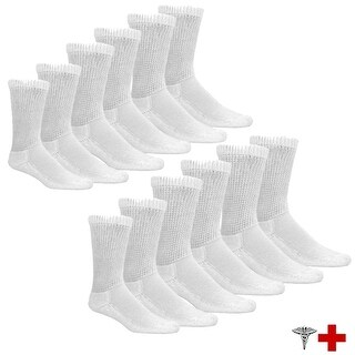 Physician Approved Therapeutic Diabetic Socks - 6 Pairs