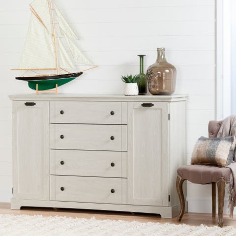 South Shore Lilak 4-Drawer Dresser with Doors