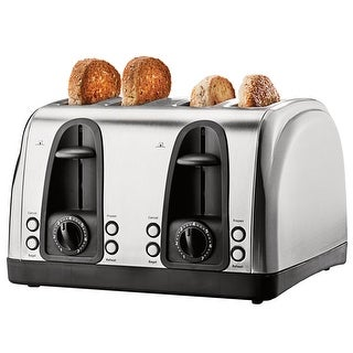 Brentwood Ts-445S Stainless Steel Extra Wide Slot 4-Slice Toaster