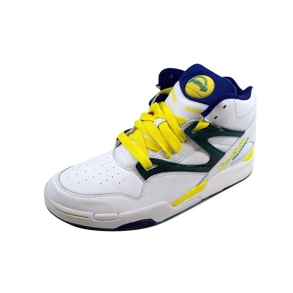 9ca8f0396ec19 Shop Reebok Men s Pump Omni Lite White Royal-Green-Yellow nan 4 ...