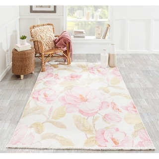Porch & Den Somera Large Floral Polyester/Cotton Area Rug