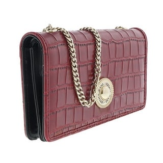 Versace EE3VQBPG3 E500 Red Wallet On Chain - 7.5-4-1