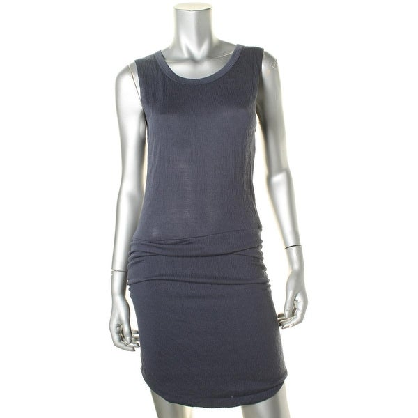 LNA Womens Tank Dress Textured Ruched
